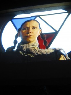 Projection on third floor of SiTE:LAB