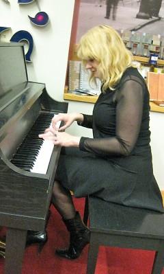 Alicia Menninga accompanies Keleigh Wolf at Schuler Books and Music Downtown