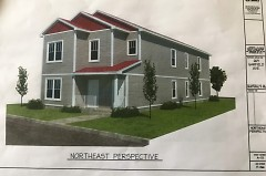 The northeast prospective of the development that was planned for 269 Grafield SW