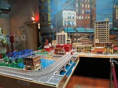 Historic Grand Rapids built in Legos at the GRPM