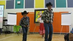 Grupo Tarasco performed before the community planning meeting.