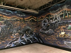 Mural by George Eberhardt of the Cultura Collective