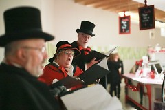 Carolers at the Downtown Market