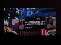 One of the two-minute films shown on MTV's billboard in Times Square.