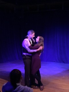 Scott Pell as Orpheus and Brittany Devon as Eurydice