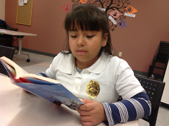 Itza loves diving into new books