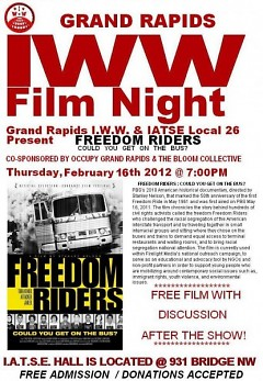 """Freedom Riders: Could You Get on the Bus?"" is the next film to be presented by the local IWW"