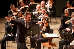 Jacomo Bairos, who guest conducted the Grand Rapids Symphony in January (above), returns to lead the orchestra for ArtPrize.