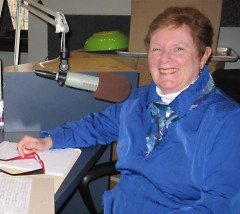 Jan Lunquist, in the WYCE studios on Catalyst Radio