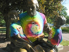 John Ball hangs out with his homies at the zoo.
