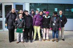 KTC Core students were all smiles outside of Rapid Central Station.