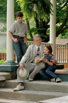L-R Adam Chamness (Jem), Mark Kincaid (Atticus Finch), Ava Britt (Scout)