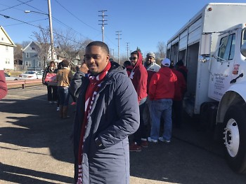 Lionel encouraged his fraternity to volunteer at the Mobile Food Pantry.
