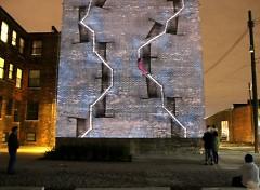 "Manos' previous work, ""The Climb, 74 Garfield"" in Detroit"