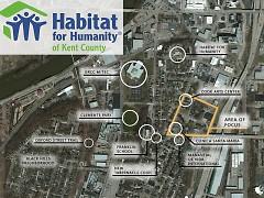 Map of Plaza Roosevelt's area of development.