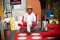 Hugo Claudin manning his booth at the 2013 Market