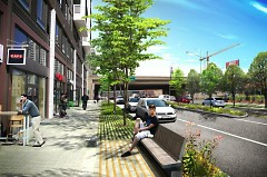 Proposed Market Street after GR Forward improvements