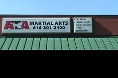 ATA Martial Arts Sign on display outisde the Academy.