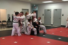 Class is relieved from being reviewed in front of instructor Dwayne L. Flees
