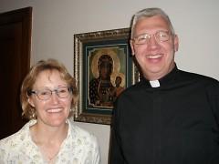Program Coordinator Melissa Gary and Father Stephen Dudek