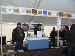 Michigan Beer Cellar booth at Michigan Winter Beer Festival.