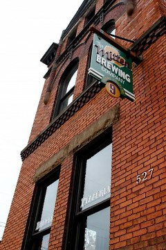 Mitten Brewing is located at an old firehouse building.