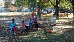 West Michigan Jewels of Africa provide traditional music, dance, and a blessing for the new orchard at MLK Park