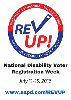 National Disability Voter Registration Week ad