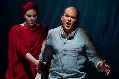 Tenor Zach Finkelstein and soprano Clara Rottsolk star as Orpheus and Eurydice.