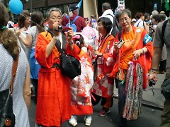 Some of the Japanese participants at Times Square rally.