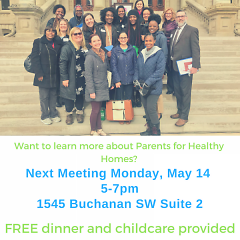 Next Parents for Healthy Homes Meeting Monday, May 14 5-7pm