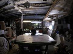 Patrick Ethan in his Detroit Studio