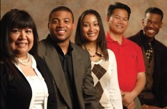 2010 graduates: (l. to r.) Maria Davis, Charles Archie, Courtney Hamilton, Phillip Nguyen, and Kevin Davis