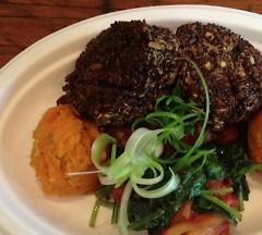 Red quinoa and oat cake, Kangaroo Kitchen