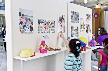 The art camp ended with a reception at KCAD showcasing the art that the students made during the week.