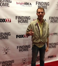 The author at the red carpet screening of Finding Home.
