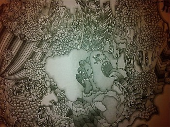"Detail of ""The Inbetween."""