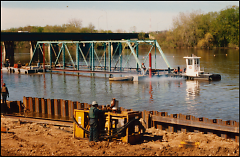 In 1991 one 116 foot span of the North Park Bridge was floated downstream to Riverside Park.