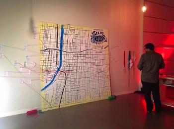 Interative map at Free Radical recap 2013