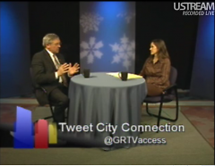 Mayor Heartwell and Linda Gellasch in a previous episode of City Connection