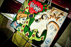 Artwork by Terry Johnston from the 2009 event.