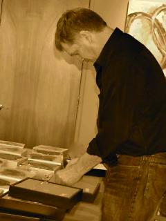 Mark Bird in studio