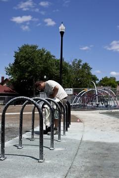 Installing the bike rack