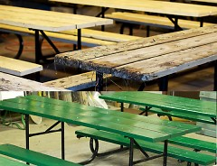 Volunteers will have freshly painted tables ready to distribute in the spring.