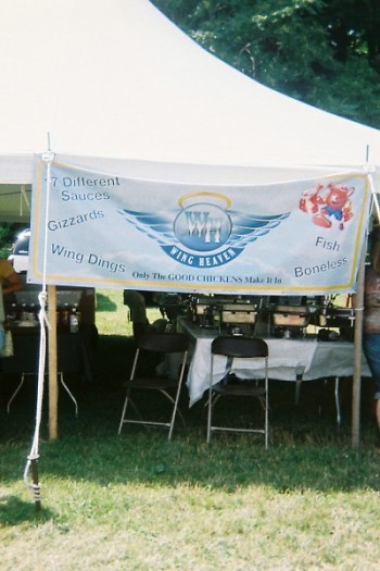 Wing Heaven booth at Taste of Grand Rapids 2011