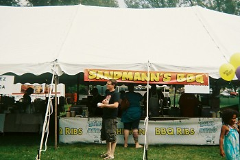 Sandmann's booth at Taste of Grand Rapids 2011