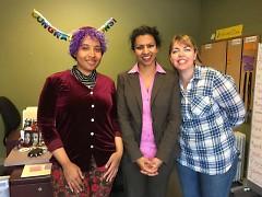 The Rapidian's staff: Briana Ureña-Ravelo, Kiran Sood Patel and Elizabeth Rogers Drouillard