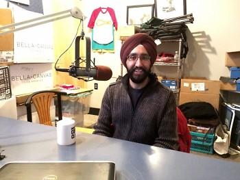 Rishi Makkar in studio at WYCE