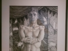 "Riva Lehrer's portrait of actor Mat Fraser as ""Sealo Seal Boy"""