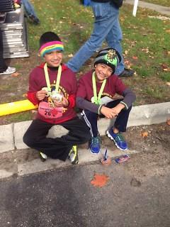 Garcia's boys after a fun run